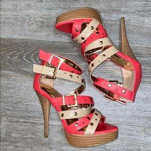 NWOB Liliana Studded Strappy Vegan Heels